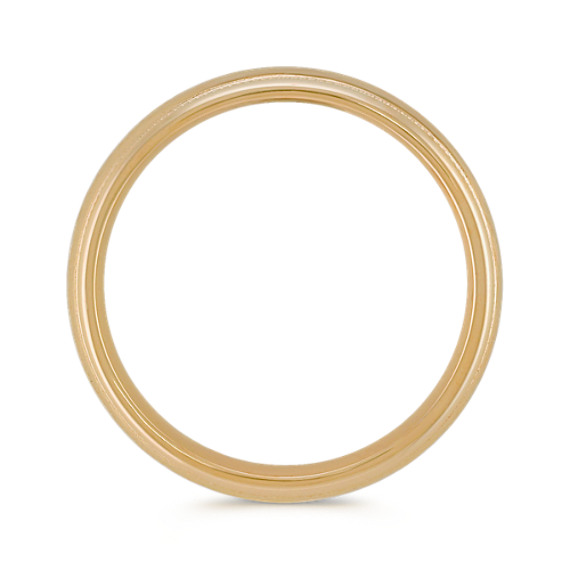 14k Yellow Gold Ring with Hammered Finish (6mm)