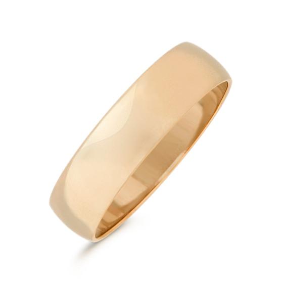 14k Yellow Gold Wedding Band (5mm)