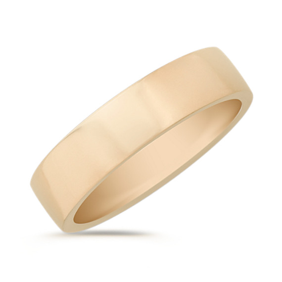 14k Yellow Gold Wedding Band (5mm)