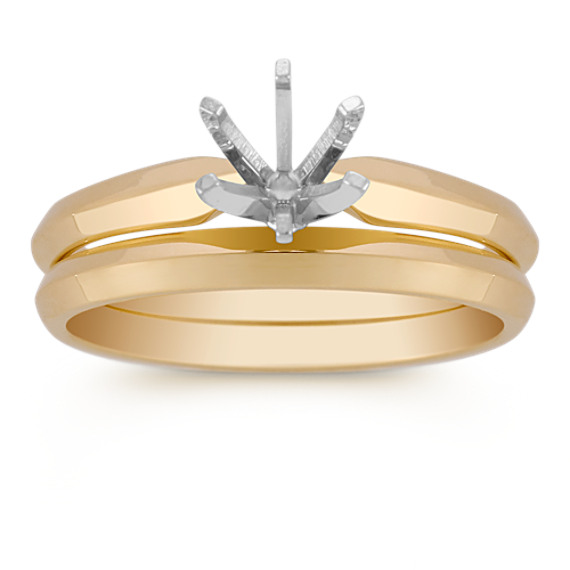 14k Yellow Gold Wedding Set