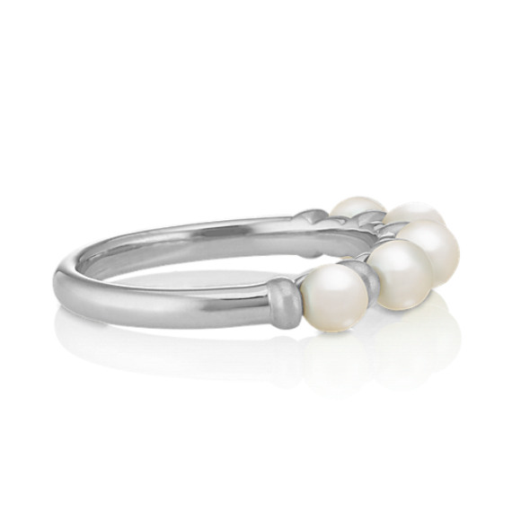 3.5mm Cultured Freshwater Pearl Ring in Sterling Silver