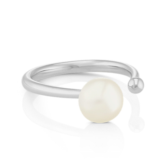 8mm Cultured Freshwater Pearl Ring in Sterling Silver
