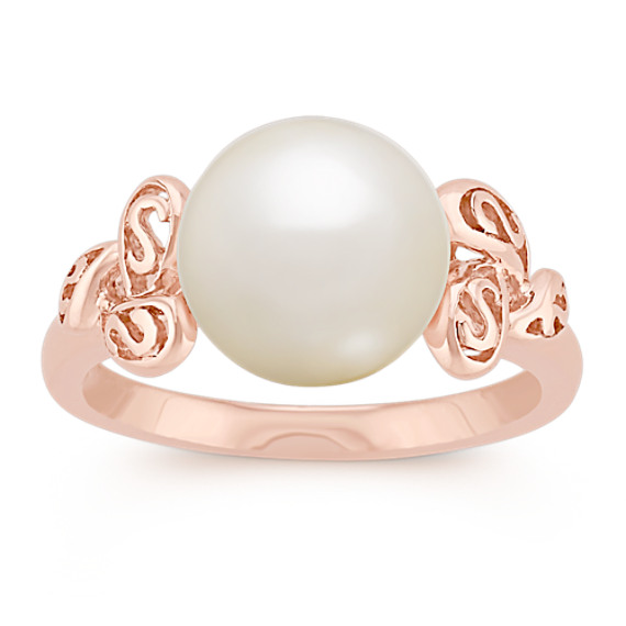 9.5mm Cultured Freshwater Pearl Ring in Rose Gold