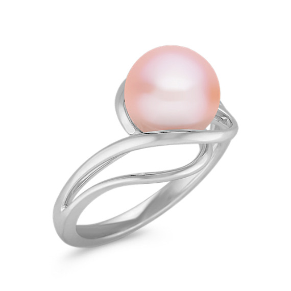 9mm Pink Cultured Freshwater Pearl and Sterling Silver Ring