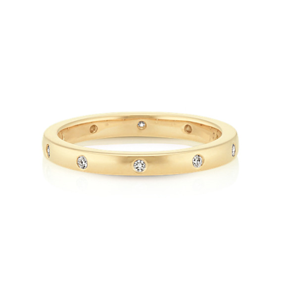 Bezel Set Diamond Wedding Band