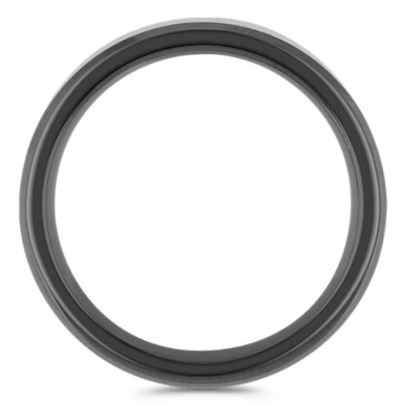Black Cobalt and Carbon Fiber Ring (8mm)