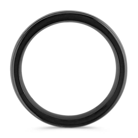 Black Cobalt Ring with Satin Finish (7mm)