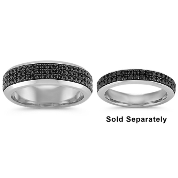 Black Sapphire Wedding Band