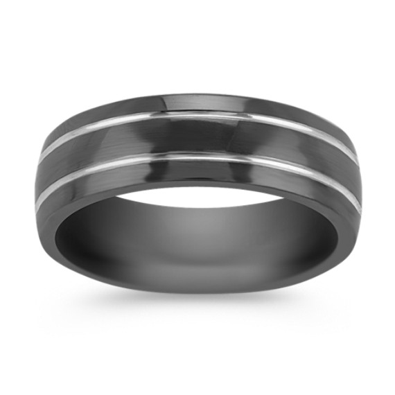 Black Titanium Banded Ring (7mm)