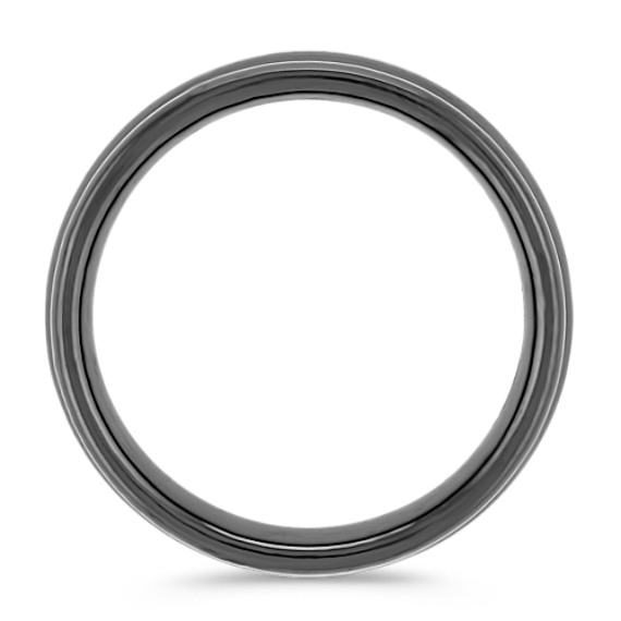 Black Titanium Comfort Fit Ring (7.5mm)