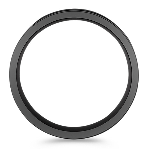 Black Titanium Double Lined Comfort Fit Ring (8mm)