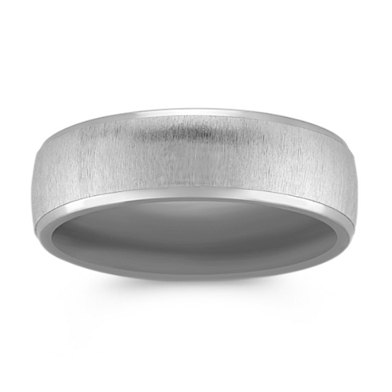 Brushed Titanium Ring (7mm)