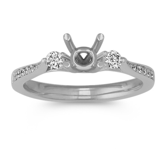 Cathedral Diamond Engagement Ring