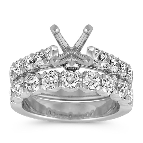 Cathedral Diamond Wedding Set