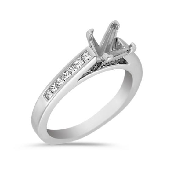 Channel Set Princess Cut Wedding Band 66 Simple Black diamond engagement rings