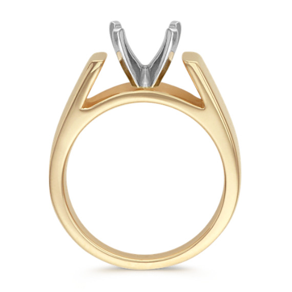 Cathedral Solitaire 14k Yellow Gold Engagement Ring