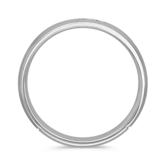 Channel-Set Diamond Ring with Satin Finish (6mm)