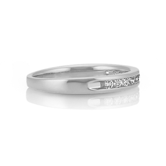 Channel-Set Diamond Wedding Band in Platinum