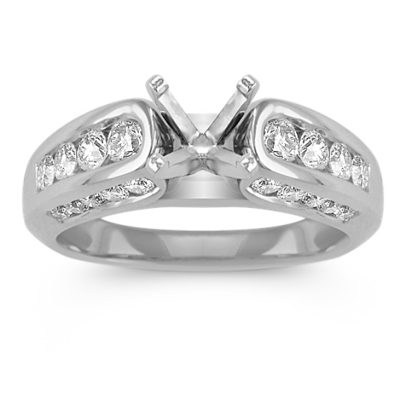 Channel-Set Round Diamond Engagement Ring