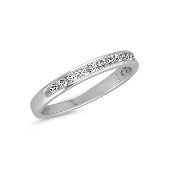 Channel-Set Round Diamond Wedding Band