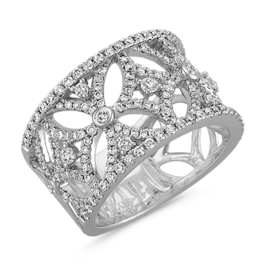 Circle and Star Round Diamond Ring