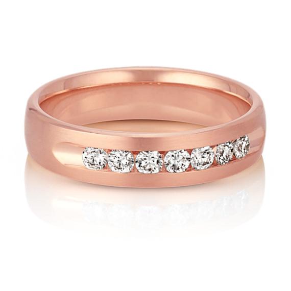 Classic 14k Rose Gold Round Diamond Ring (5.5mm)
