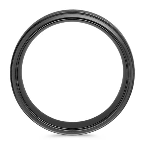 Classic Black Titanium Comfort Fit Ring (9mm)