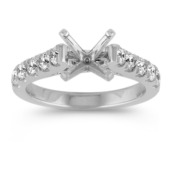 Classic Cathedral Diamond Engagement Ring
