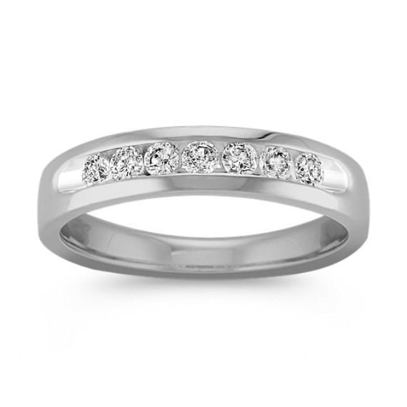 Classic Channel-Set Diamond Ring in 14k White Gold