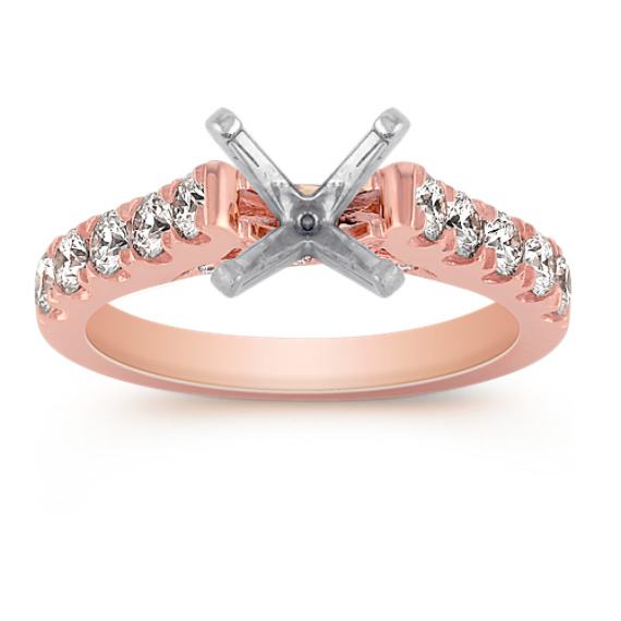 Classic Diamond Engagement Ring in 14k Rose Gold
