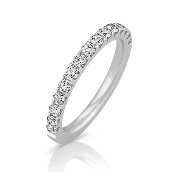 Classic Diamond Wedding Band in 14k White Gold