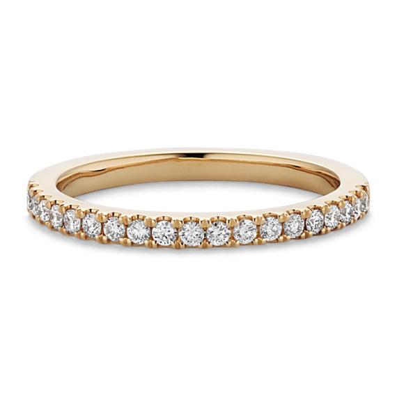 Classic Diamond Wedding Band in 14k Yellow Gold