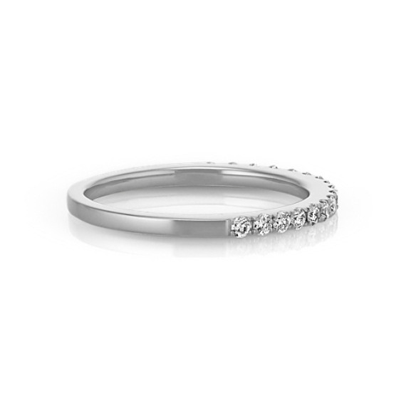 Classic Diamond Wedding Band in Platinum
