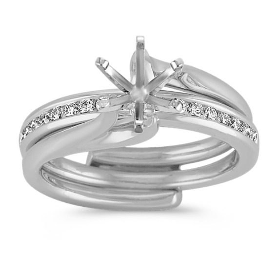 Classic Diamond Wedding Set with Channel-Setting