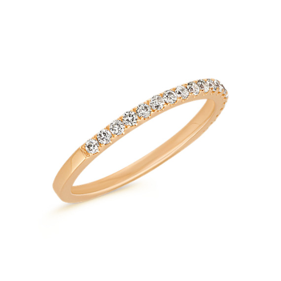 Classic Pavé-Set Diamond Wedding Band in 14k Yellow Gold