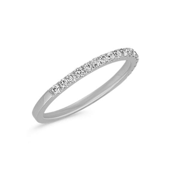 Classic Pavé Set Diamond Wedding Band