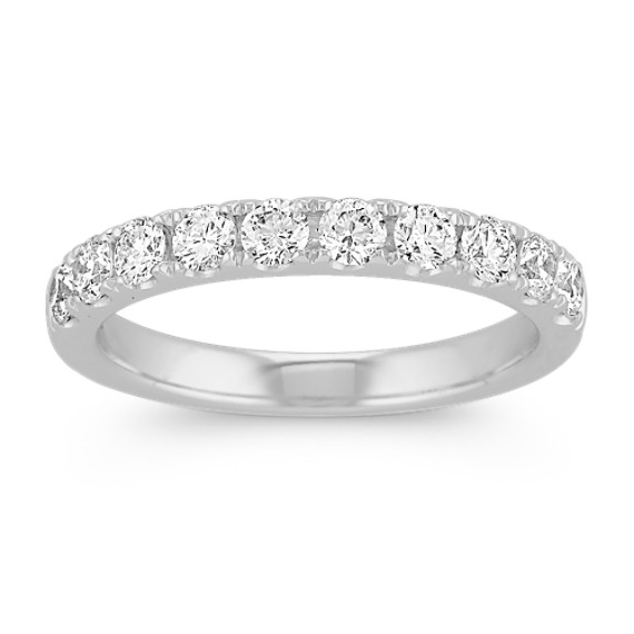 Classic Pavé-Set Diamond Wedding Band