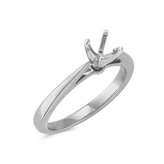 Classic Solitaire White Gold Engagement Ring