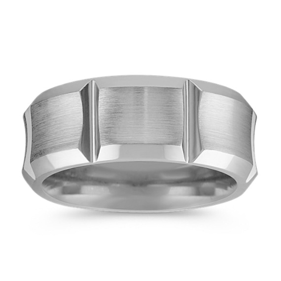 Cobalt Comfort Fit Ring with Satin Finish (9mm)