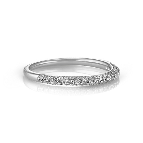 Comfort Fit Diamond Pavé Set Wedding Band