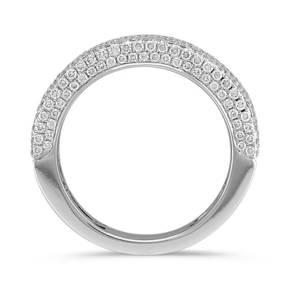 Contemporary Diamond Pavé Set Ring