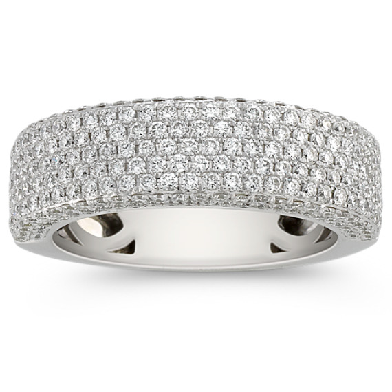 Contemporary Diamond Pavé Set Ring