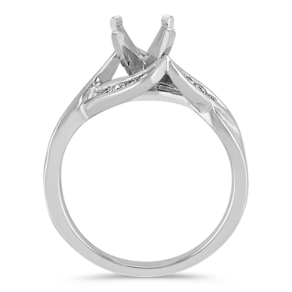 Contemporary Diamond Ring with Channel-Setting
