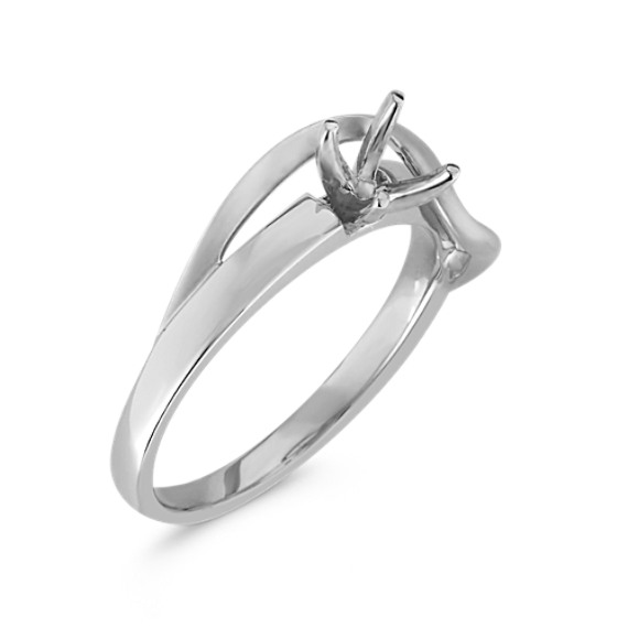 Contemporary Ring in 14k White Gold