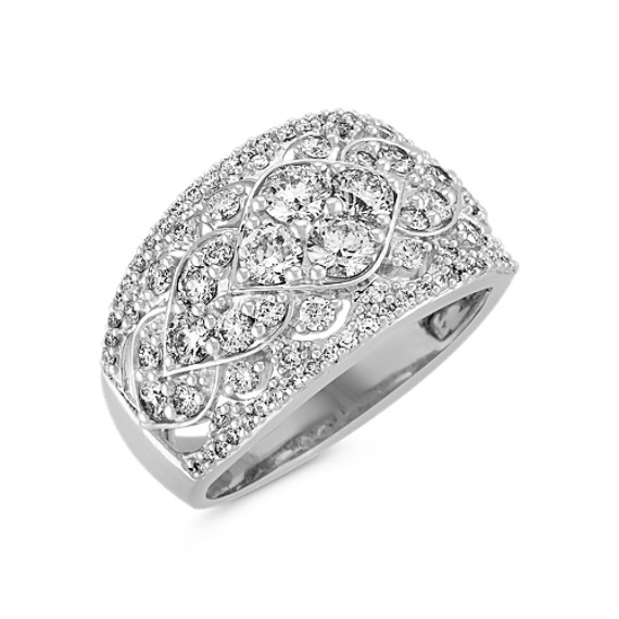 Contemporary Round Diamond Fashion Ring