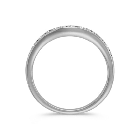 Contour Diamond Wedding Band in Platinum