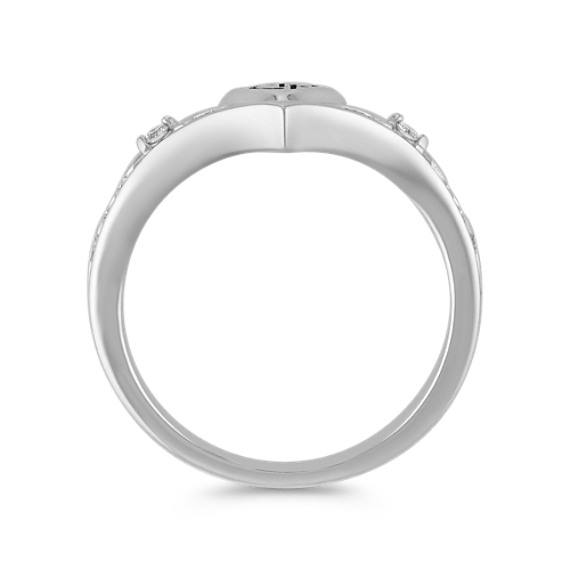 Diamond and Sterling Silver CTR Ring
