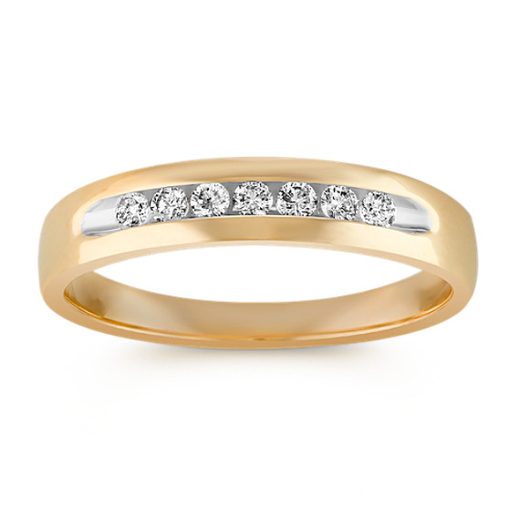 Diamond Channel-Set Men's Ring
