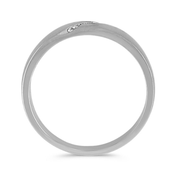 Diamond Channel-Set Ring with Textured Finish