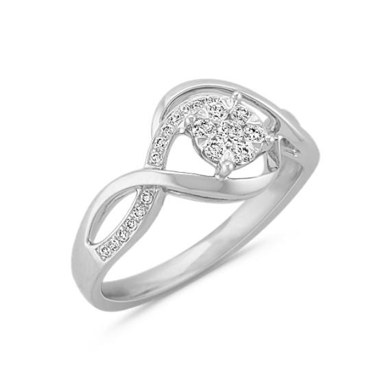 Diamond Cluster Infinity Ring